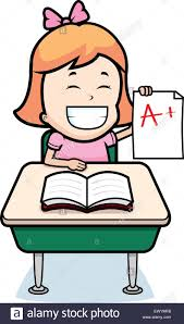 A happy cartoon student with good grades Stock Vector Image & Art - Alamy