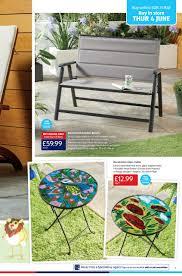 aldi folding bench aluminium garden is