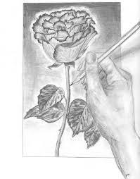 صور رسومات ورد جميلة وسهلة بالرصاص
