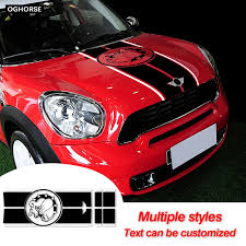 Car Hood Decal Engine Cover Trunk Rear Line Vinyl Decal Bonnet Stripe Sticker For Mini Countryman R60 Cooper S Jcw Accessories Car Stickers Aliexpress