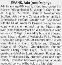 Obituary for Ada EVANS (Aged 82) - Newspapers.com
