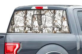 Ford F150 Rear Window Decal White Camo Racerx Customs Truck Graphics Grilles And Accessories