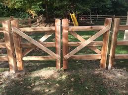 Double Drive Split Rail Gate All Cedar Sharper Image Fence Facebook