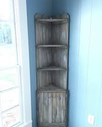 Picket Fence Corner Cabinet Etsy In 2020 Wood Corner Shelves Wood Corner Cabinet Rustic Corner Shelf