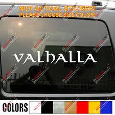 Valhalla Lettering Decal Sticker Odin Viking Norse Car Vinyl Pick Size Color Ebay