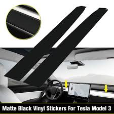 Matte Black Style Vinyl Sheet Wood Wrap Stickers For Tesla Model 3 Interior Dashboard Buy At A Low Prices On Joom E Commerce Platform