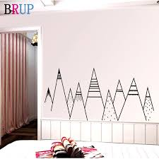 2020 Large Mountain Range Wall Stickers Kids Mountain Wall Decal Mountain Range Son Gift Nephew Gift Nordic Mountains Decal Baby Gift From Zhenrubusiness 103 76 Dhgate Com