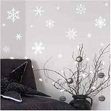 Amazon Com Wall Sayings Vinyl Lettering White Small Snowflakes Set Of 30 Decal Home Decor Art Quote Sticker White Home Kitchen