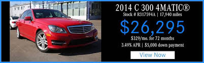 pre owned mercedes benz lease specials