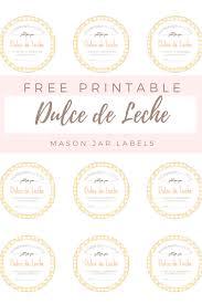 free printable mason jar labels for