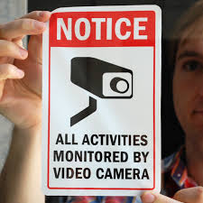 Notice All Activities Monitored By Video Camera Sign Sku S 4916