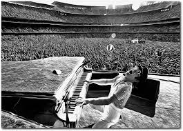 Amazon Com Wall Decor Elton John At Dodger Stadium Canvas Poster 13 X 19 Inches Ready To Frame For Office Living Room Dorm Kids Room Bedroom Studio Printed On Real Cotton Canvas