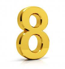 Número de oro 8 | Foto Premium