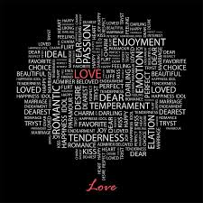 Love With Word Cloud Wall Mural Majestic Wall Art