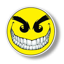 Evil Smiley Happy Face Sticker Die Cut Vinyl Decal For Car Etsy