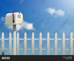 Mail Box Against Blue Image Photo Free Trial Bigstock