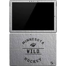 Skinit Minnesota Wild Black Text Surface Pro 4 Skin Officially Licensed Nhl Tablet Decal Ultra Thin Lightweight Vinyl Decal Protection