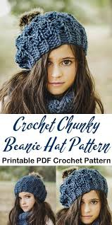Pin by adriana george on Crochet | Winter hat crochet pattern, Crochet  hats, Chunky crochet