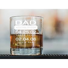 dad whiskey glass gift personalized