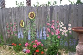 Flower Mural Fence Ideas Garden Fence Art Garden Mural Fence Art