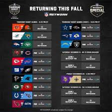 Thursday Night Football schedule ...
