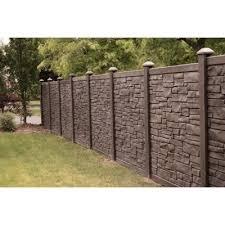Simtek 6 Ft H X 6 Ft W Ecostone Dark Brown Composite Fence Panel Fp72x72dbr The Home Depot Backyard Fences Fence Design Fence Panels