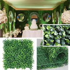 Amazon Com Petgrow Realistic Thick Artificial Hedge Boxwood Fence Privacy Screen Panels Uv Protection Fresh Faux Foliage Backdrop Wall Decor For Indoor Outdoor 20 Pack Garden Outdoor