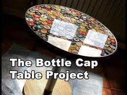beer bottle cap table tutorial using
