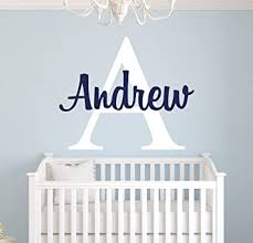 Amazon Com Custom Name Monogram Wall Decal For Boys Nursery Wall Decals Personalized Name Wall Decor Vinyl Sticker Baby