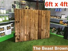 G G 6x4ft Premium Closed Board Fence Panel 01322787312