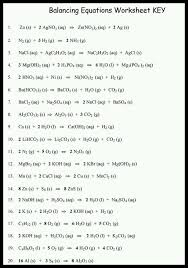 write 20 balanced chemical equations in
