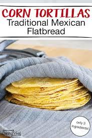 3 ing authentic corn tortillas