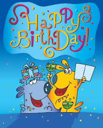 funny cartoon birthday cards vector 01