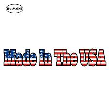 Hotmeini 15cm X 2 7cm Car Stickers Made In The Usa Decal Truck Car Window American Flag Bumper Jdm Waterproof Car Styling Car Stickers Aliexpress