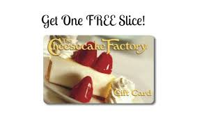 free cheesecake slice with gift card