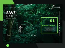 nature quotes landing page by sharif mollah ux ui on dribbble
