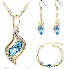 shuangr elegant water drop jewelry sets