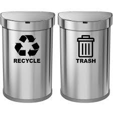 Vwaq Recycle And Trash Decal Set Of 2 Vinyl Recycle Sticker For Trash Can Bin Tc3 Walmart Com Walmart Com