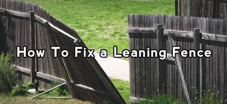 How To Fix A Leaning Fence Wooden Fence Fence Gate Fence Post Repair