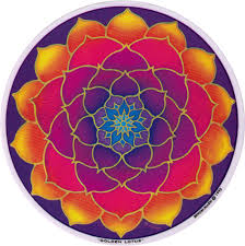 Golden Lotus Window Sticker Decal Peace Resource Project