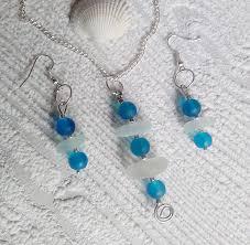 sea glass jewelry set sea glass jewelry