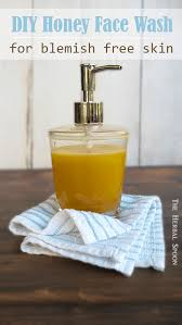 honey face wash for blemish free skin