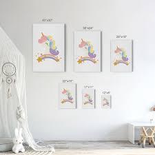 Cute Unicorn Wall Decor Rainbow Kids Room Decor Nursery Wall Art Smile Art Design