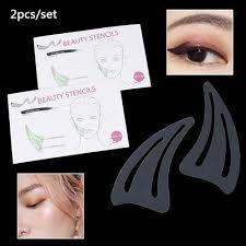 face contour makeup model stencil card