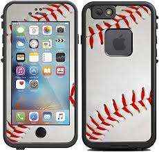 Amazon Com Teleskins Protective Designer Vinyl Skin Decals Compatible With Lifeproof Fre Iphone 6 6s Case Baseball Design Only Skins And Not Case