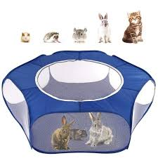 Small Animals Playpen Breathable Waterproof Small Pet Cage Tent With Zippered Cover Portable Outdoor Yard Fence Wish