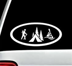 Hiking Camping Kayak Oval Decal Sticker For Car Window 7 50 Inch Bg 137 Ebay