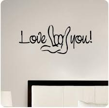 Amazon Com Love You Sign Language I Love You Wall Decal Sticker Art Home Decor Home Kitchen