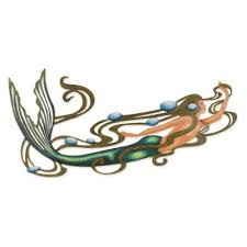 graceful mermaid wall sculpture