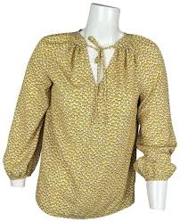 Boden Yellow Wa736 Polly Bell Sleeve Peasant Crease Free Blouse Size 6 (S)  - Tradesy